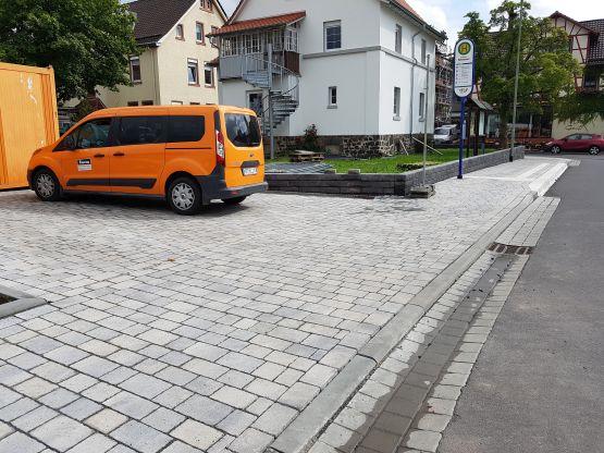 Hofbefestigung, Gehweg Marktplatz Schotten, 2017