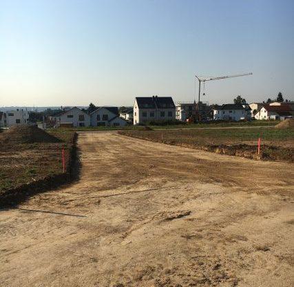 Erdarbeiten Straßenbau Heuchelheim, Auf der Bölz, 2016/2017