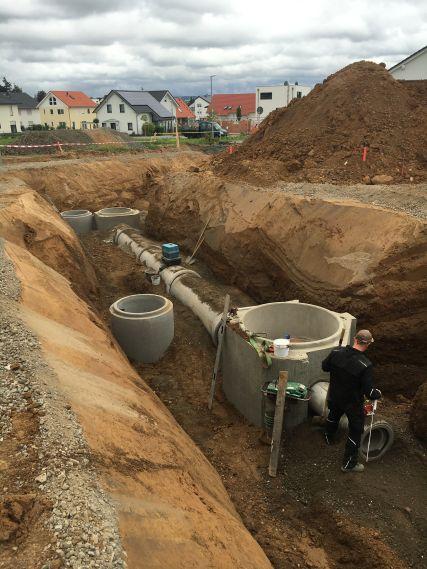 Kanalbauarbeiten Heuchelheim, Auf der Bölz, 2016/2017
