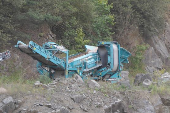 Powerscreen Warrior 1400, Siebanlage